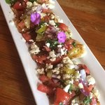 Just look at how yummy this looks!!! The bruschetta is to die for
