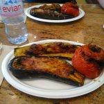 Aubergine, courgette et tomate farcies
