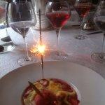 gratin de fraises à la rhubarbe