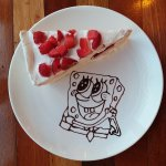 Strawberry crepe! Made with fresh strawberry fruits~