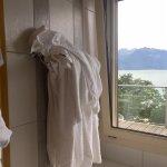 Used towels put back on rack!