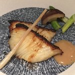 Grilled black cod with miso paste