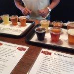 sampler at Tin Mill Brewery