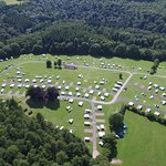 Aerial views of a great campsite (from my drone)!!