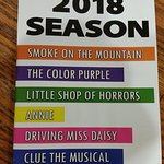 2018 Season Shows