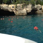A stop to swim in the caves from the included sunset catamaran