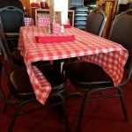 Picnic style table covers.