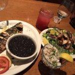 Bronzini, crab cocktail, octopus