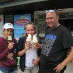 huge ice creams at lulworth cove