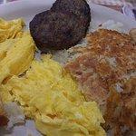 Two farm fresh eggs breakfast.