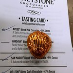 "Our tasting card - your ""education"" in samples revolves around this tasting card."