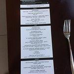NeXT brunch menu
