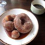 Cinnamon Sugar Brioche Donuts w/ Coffee Caramel Sauce