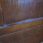It looks like the woodwork is rarely, if ever, dusted