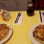 pancakes pépites de chocolat et pancakes bananes