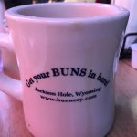 """Thought these were so cute! Coffee Cups at the Bunnery. """"Get Your Buns in Hand"""""""