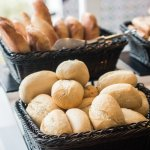 Delicious fresh bread for breakfast (also available for dinner too)
