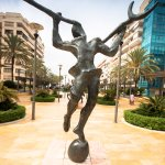 Salvador Dali sculptures on Avenida del Mar in Marbella