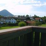 Aussicht vom Balkon auf Flintsbach