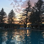 evening view from the hot springs pool