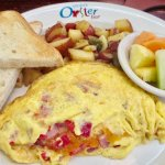 Hearty three egg omelet