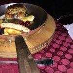 foie gras poêlé de la ferme du Canard goulu et flanc de porc confit croustillant