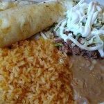Tostada and taco