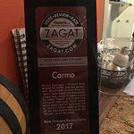 The Zagat write-up of Carmo
