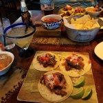 Diablo's Signature Steak tacos, chips & salsa