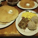 Kalua hash which comes with eggs, rice and pancakes...hope you aren't on a diet