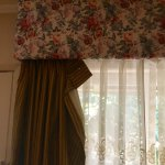 Drapes and other things in the room falling apart