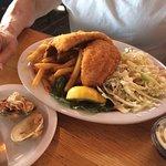 fried flounder dinner