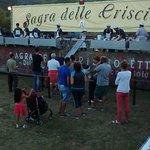 Village festival of Crisciolette, flatbread with pancetta!
