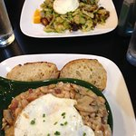 Brussels Sprouts Hash and White Bean Hash