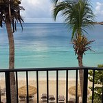 View from my beachfront balcony