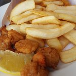 scallops and chips Tassie style