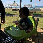 Beachside dining
