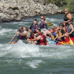 Rafting down the Yellowstone River