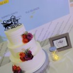 Flowers and cake topper were added by wedding coordinator