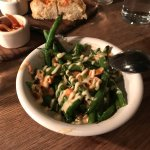 Sautéed green beans with fish sauce vinaigrette and cashews