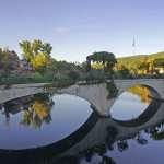 The Bridge of Flowers, Shelburne Falls.