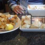 Calamari (left) and Seafood Fondue (right)