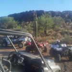ATV tour stop at Indian ruins.