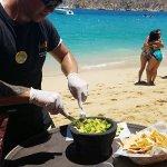 Guacamole by the beach at Mango Deck
