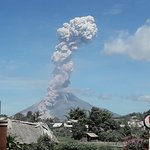 Sinabung got angry