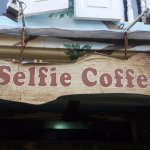 Selfie coffee cafe