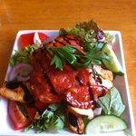 Chicken and chorizo salad starter
