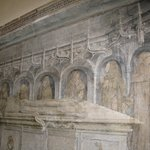 Tomb with painted monks mourning