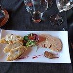 Fois gras très bon juste a vec un gout de trop peu