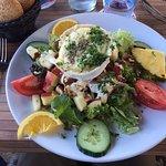 Veggie goat cheese salad